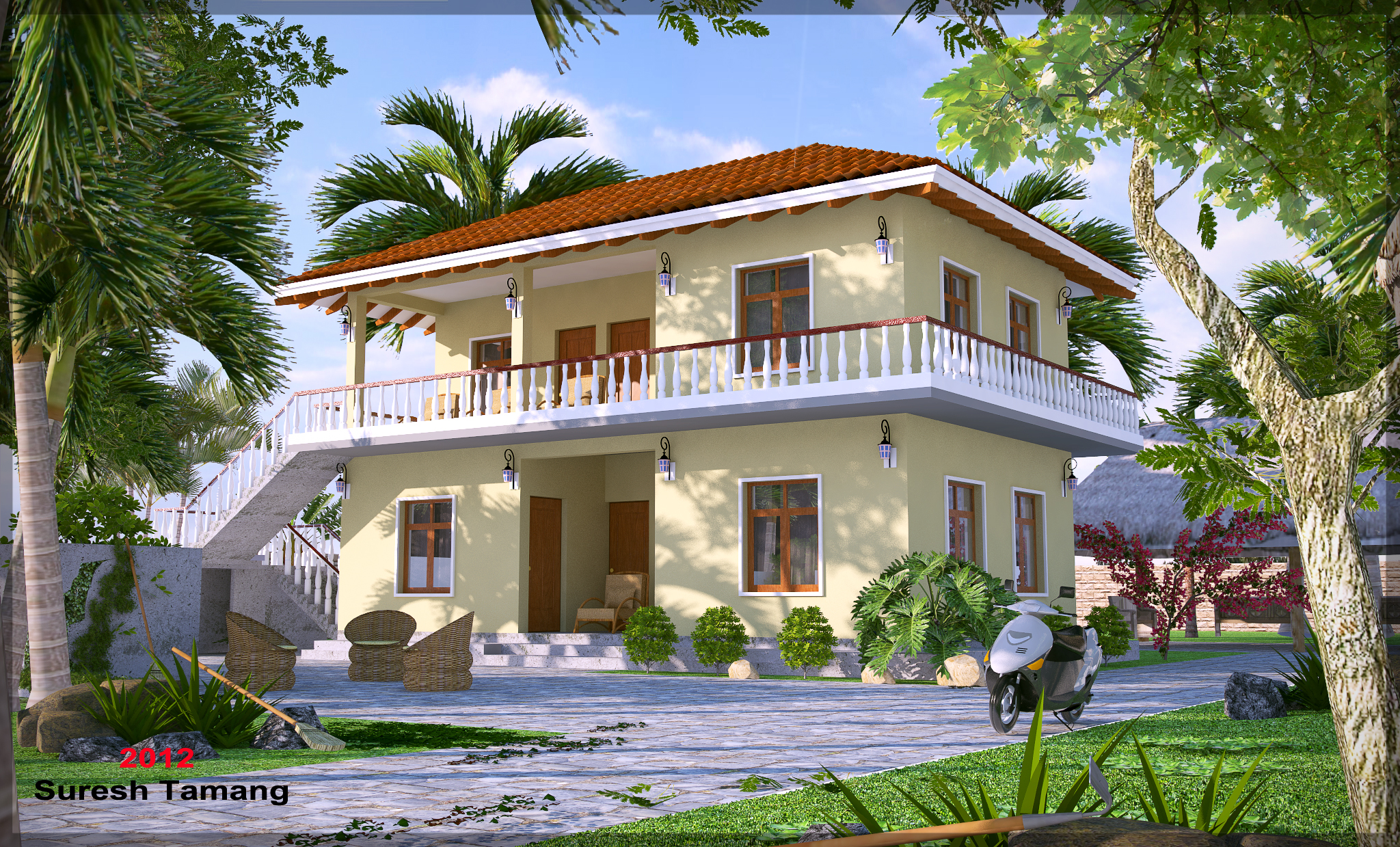 Marvelous Sketchup Farm House.