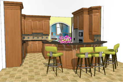 Designing Kitchens With Sketchup Sketchup For Kitchen Design
