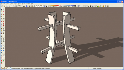 Intersects to Create Mortises in SketchUp