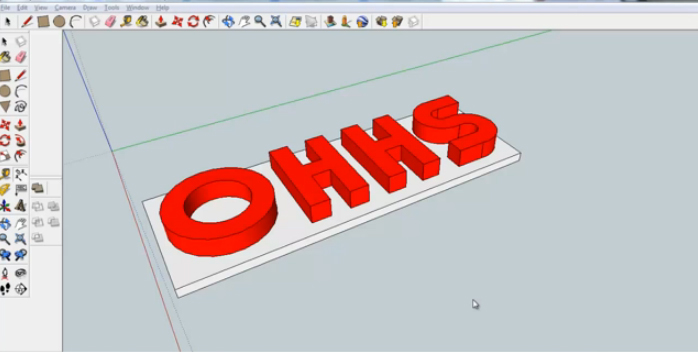 Sketchup Tutorial 2D to 3D Letters - Part 4