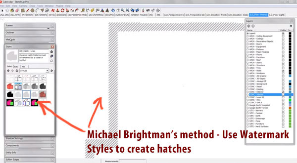 Layout Pattern Fill & Hatching with Sketchup Pro 2013