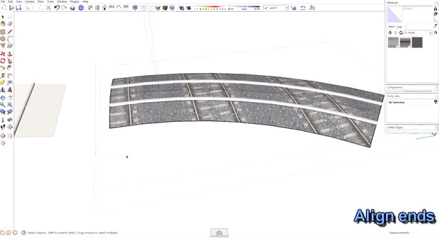 SketchUp Tutorial - Creating Curved Track Segments
