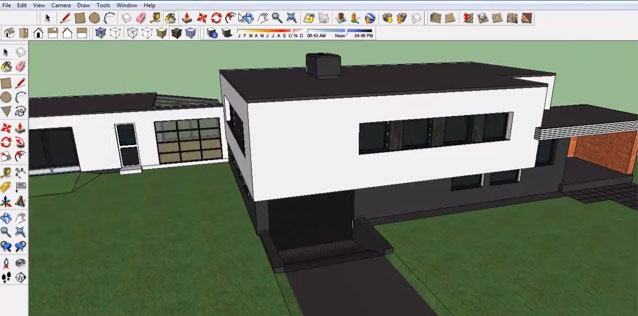 Modern House In Google Sketchup - fast tutorial