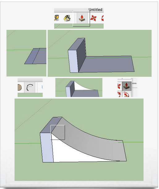 How to make a halfpipe with Sketchup