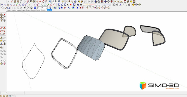 How to model a Fiat Car 500 with Sketchup