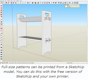 Print Full-size Patterns from SketchUp