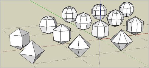 Polyhedra plugin for SketchUp