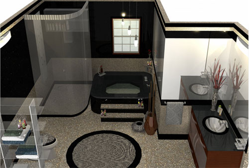 Create a compelling design of your bathroom with Sketchup
