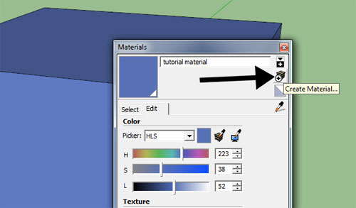 Using the material database in Sketchup