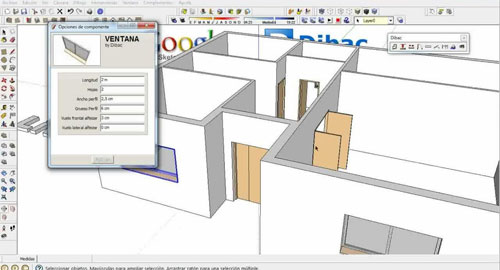 How to generate walls efficiently with Dibac for Sketchup