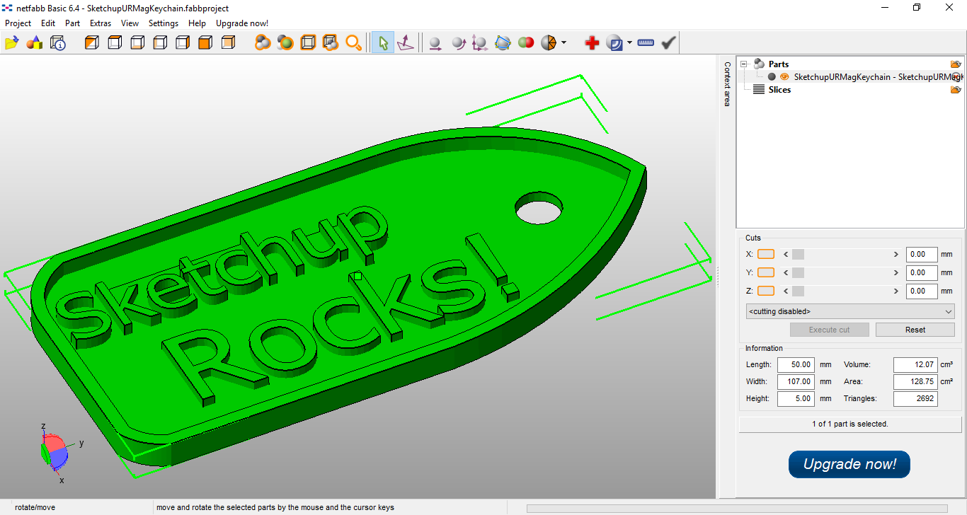 3d modelling to print with children and sketchup