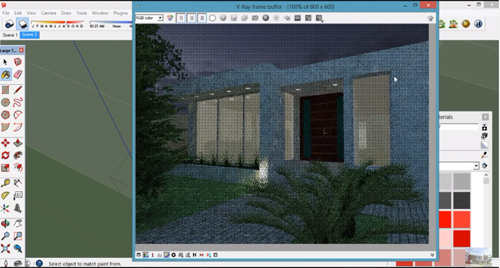 How to render exterior of a house with vray for sketchup – A good tutorial from Chaos Group