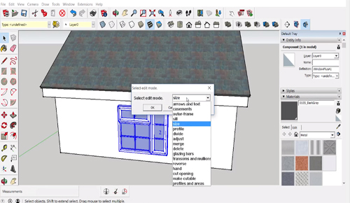 Window+ - A powerful sketchup extension to add windows to the building models