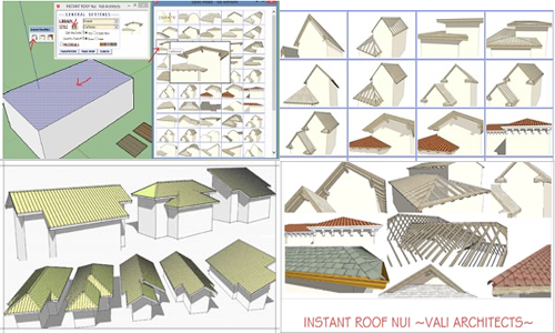 Instant Roof Plugin For Sketchup