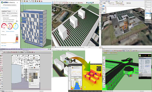 Download various energy analysis plugins for sketchup