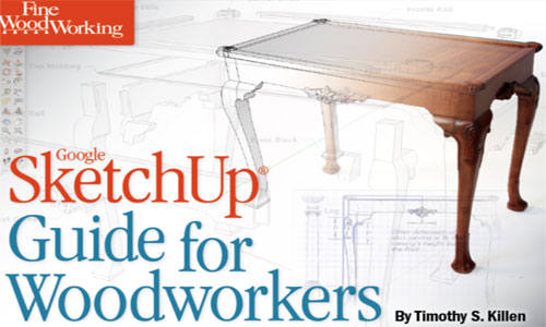 Developing a table in SketchUp