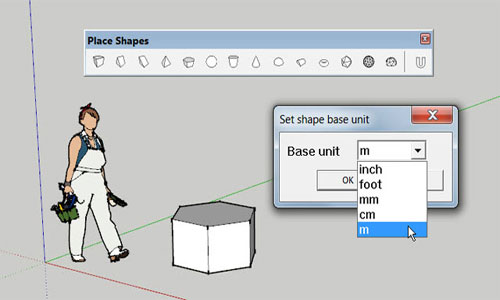 Place Shapes Toolbar is the newest Sketchup extension