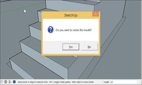 How to resize components in SketchUp