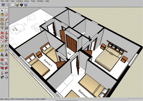 Drawing floor plans on sketchup carpet review for Draw layout online free